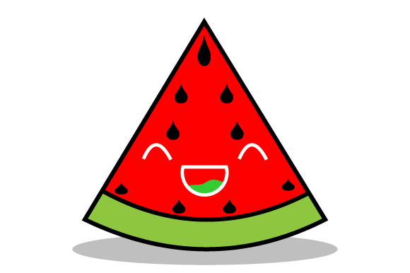 Download Free Red Watermelon Is Very Happy Graphic By Yapivector Creative for Cricut Explore, Silhouette and other cutting machines.