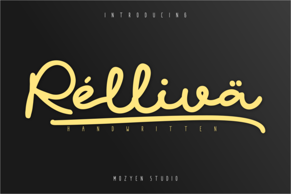Print on Demand: Relliva Script & Handwritten Font By mozyenstudio