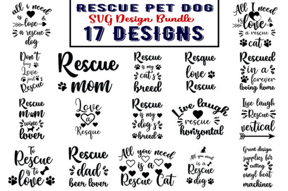 Download Free Rescue Pet Dog Bundle Grafico Por Design Store Creative Fabrica for Cricut Explore, Silhouette and other cutting machines.