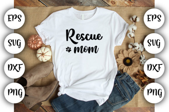 Print on Demand: Rescue Mom Graphic Print Templates By Design_store