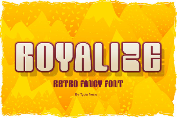 Print on Demand: Royalize Display Font By Typia Nesia