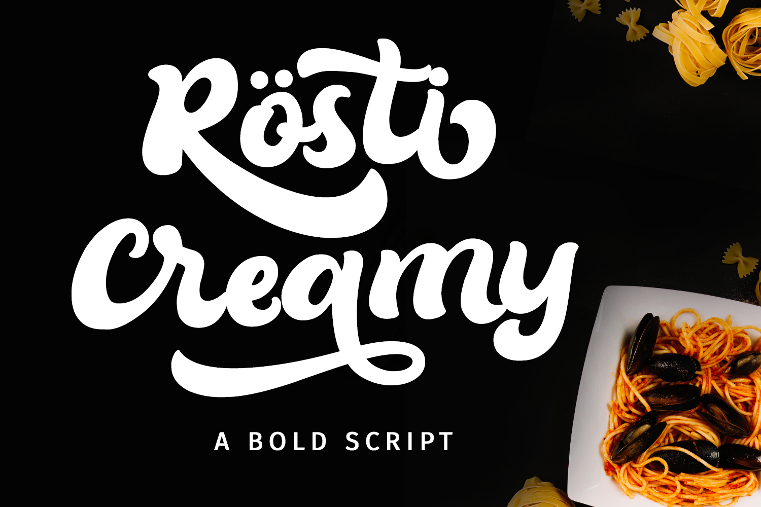 Download Free Rosti Creamy Font By Girinesia Creative Fabrica for Cricut Explore, Silhouette and other cutting machines.