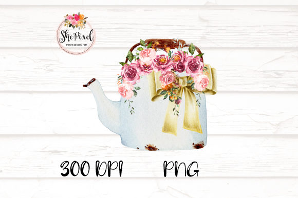 Print on Demand: Rustic Vintage Vases with Flowers Graphic Illustrations By ShePixel - Image 4