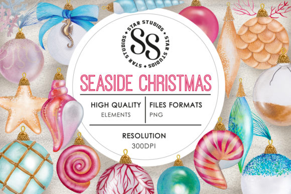 Download Free Seaside Christmas Graphic By Starstudiooriginals Creative Fabrica for Cricut Explore, Silhouette and other cutting machines.