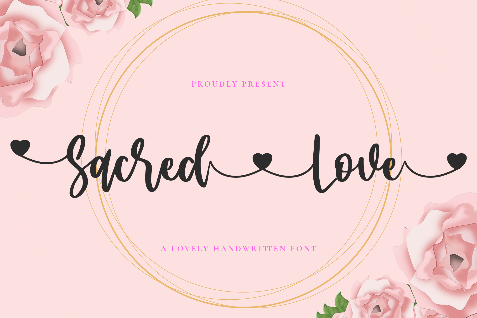 Download Free Sacred Love Font By Vz Type Creative Fabrica for Cricut Explore, Silhouette and other cutting machines.
