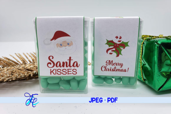 Download Free Santa Kisses Tic Tac Label Graphic By Family Creations for Cricut Explore, Silhouette and other cutting machines.