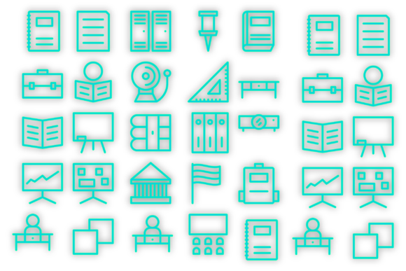 Download Free School Materials Icons Graphic By Designvector10 Creative Fabrica for Cricut Explore, Silhouette and other cutting machines.