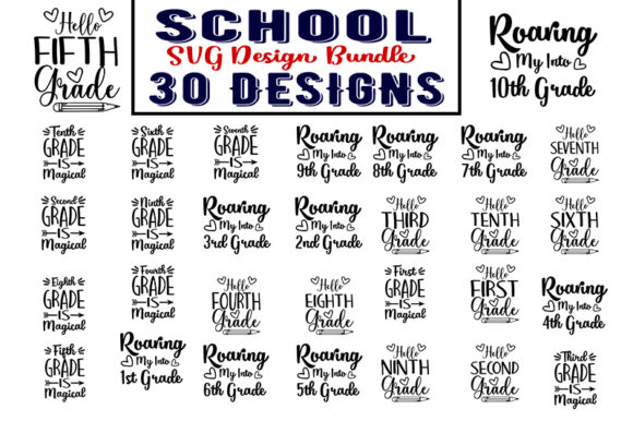 Download Free School Bundle Graphic By Design Store Creative Fabrica for Cricut Explore, Silhouette and other cutting machines.
