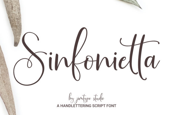 Print on Demand: Sinfonietta Script & Handwritten Font By jimtypestudio