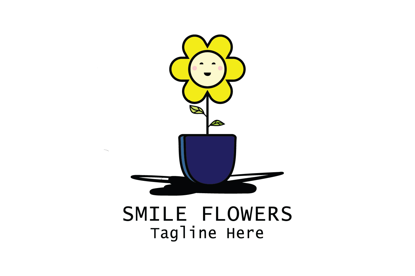 Download Free Smile Flowers Art Logo Vector Graphic By Yuhana Purwanti for Cricut Explore, Silhouette and other cutting machines.
