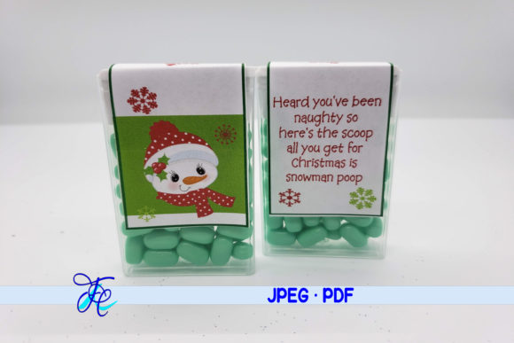 Snowman Poop - Tic Tac Label Graphic Crafts By Family Creations
