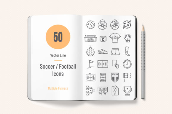 Print on Demand: Soccer / Football Icons Graphic Icons By sargatal