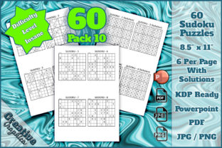 Print on Demand: Sudoku 60 Puzzles Insane Pack 10 Graphic KDP Interiors By Creative Graphica