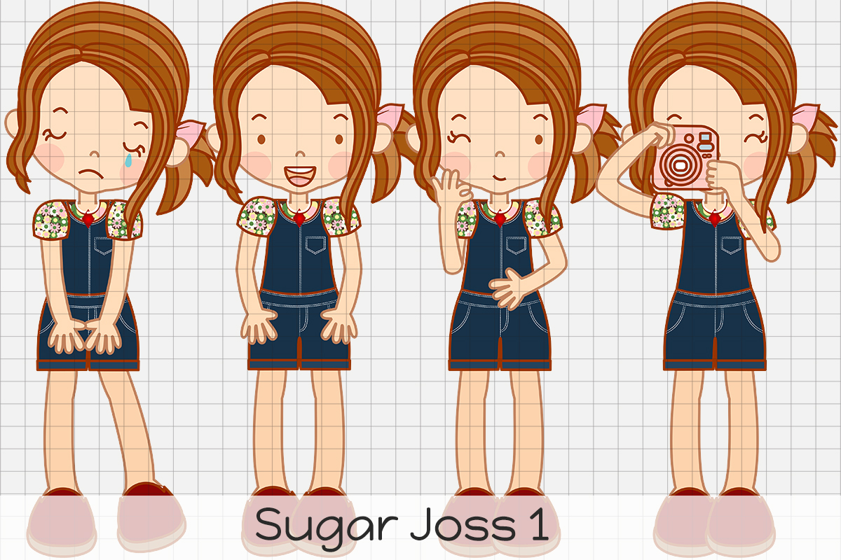 Download Free Sugar Joss 1 Graphic By Dolls To Go Creative Fabrica for Cricut Explore, Silhouette and other cutting machines.