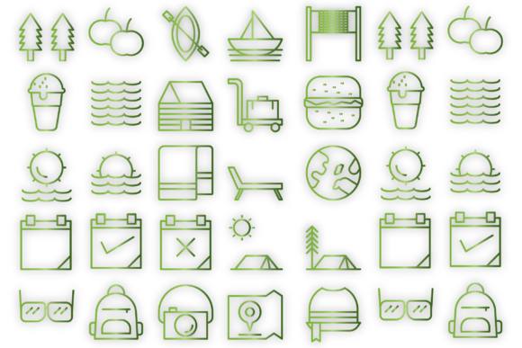 Download Free Summer And Hotel Holidays Icons Graphic By Designvector10 SVG Cut Files