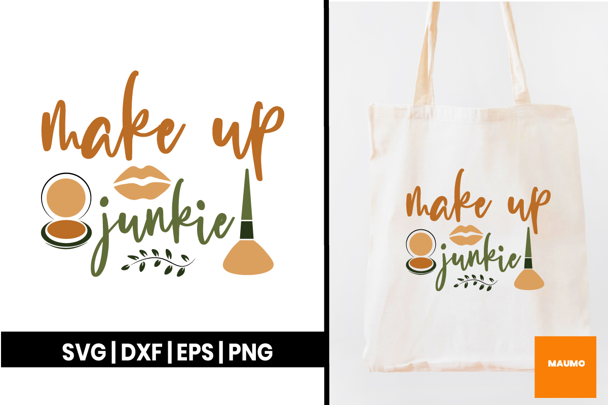 Download Free Make Up Junkie Graphic By Maumo Designs Creative Fabrica for Cricut Explore, Silhouette and other cutting machines.