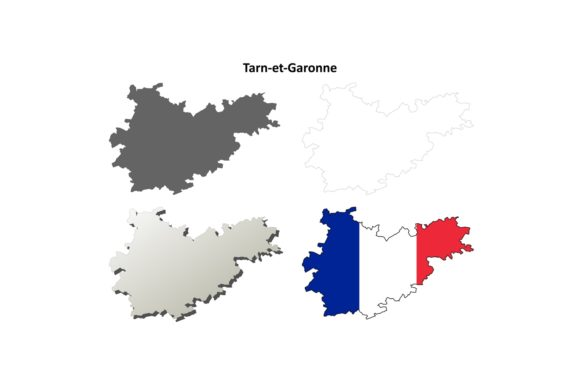 Download Free Tarn Et Garonne Outline Map Set Graphic By Davidzydd Creative for Cricut Explore, Silhouette and other cutting machines.