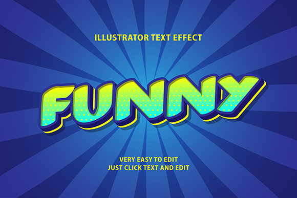 Download Free Text Effect Funny Modern Cartoon Graphic By Amrikhsn for Cricut Explore, Silhouette and other cutting machines.