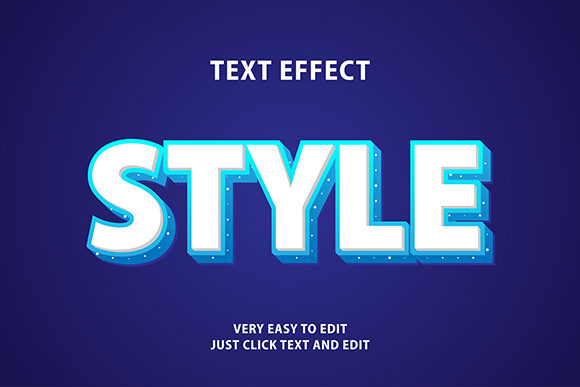 Download Free Text Effect Modern 3d Style Blue Graphic By Amrikhsn for Cricut Explore, Silhouette and other cutting machines.