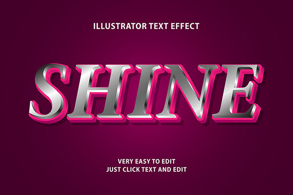 Text Effect - Shine Effect Text Graphic Graphic Templates By Amrikhsn