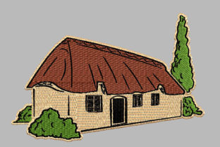 Print on Demand: Thatched Cottage Farm & Country Embroidery Design By Embroidery Shelter