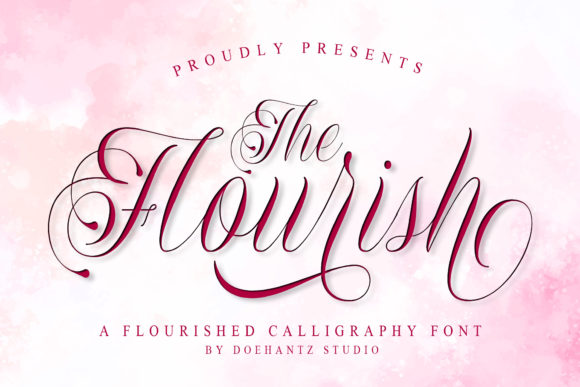 Print on Demand: The Flourish Script & Handwritten Font By Doehantz Studio