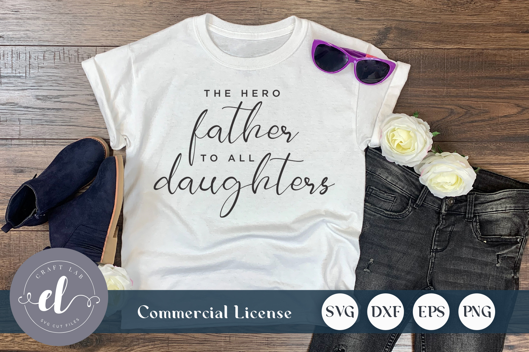Download Free The Hero Father To All Daughter Graphic By Craftlabsvg SVG Cut Files