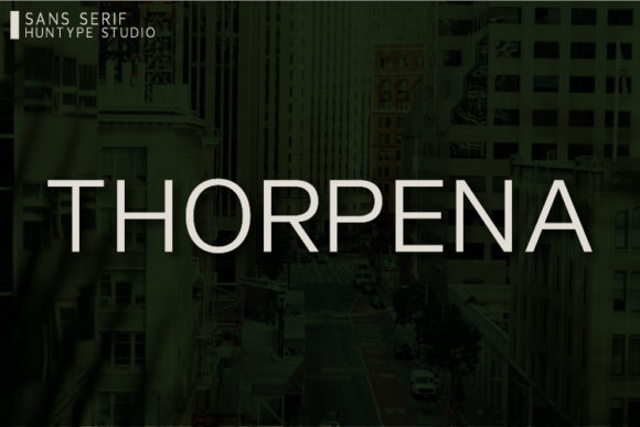 Download Free Thorpena Font By Huntype Creative Fabrica for Cricut Explore, Silhouette and other cutting machines.