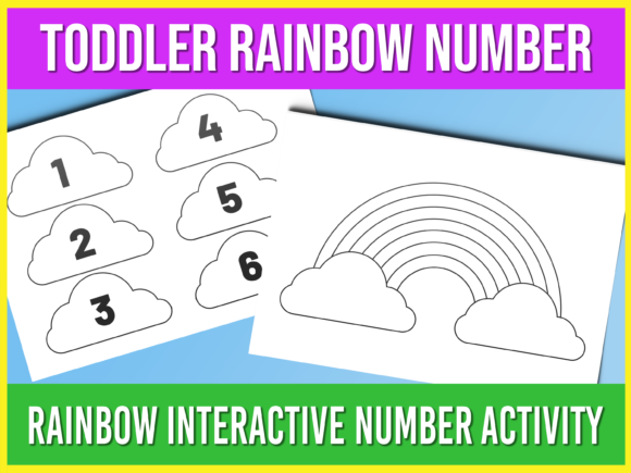 Print on Demand: Toddler Matching Rainbow Activity Graphic Print Templates By AscendPrints