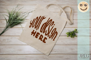 Print on Demand: Tote Bag Mockup with Green Grass Graphic Product Mockups By TasiPas