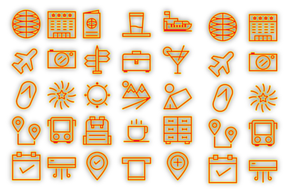 Download Free Travel And Holiday Icons Graphic By Designvector10 Creative for Cricut Explore, Silhouette and other cutting machines.