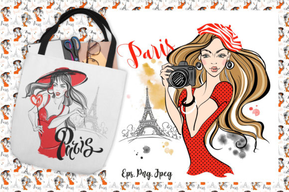 Trip to Paris Graphic Illustrations By grigaola