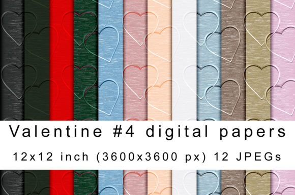 Download Free Valentine 04 Digital Papers Graphic By Andrea Kostelic for Cricut Explore, Silhouette and other cutting machines.
