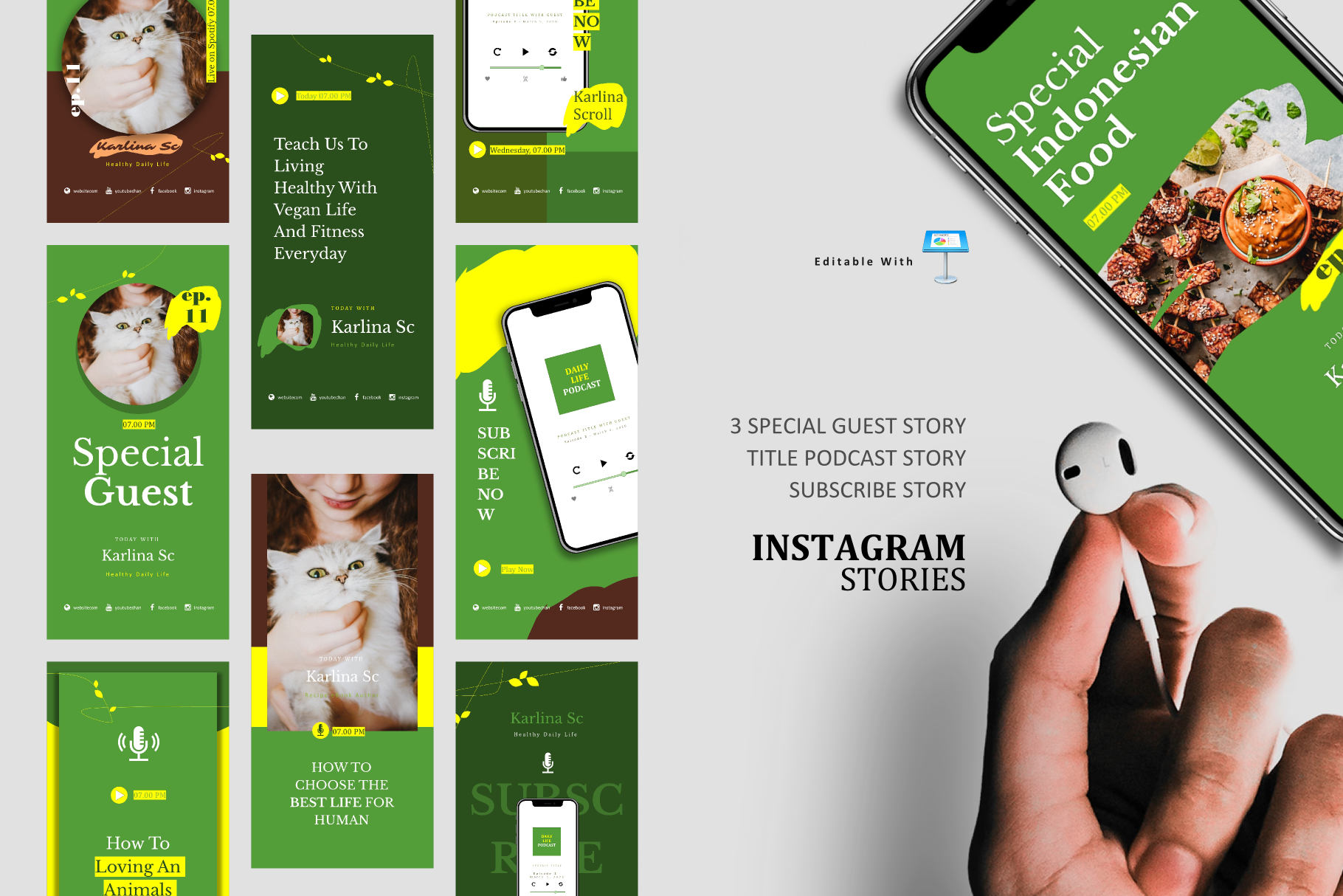 Download Free Vegan Podcast Ig Stories Post Keynote Grafico Por Rivatxfz Creative Fabrica for Cricut Explore, Silhouette and other cutting machines.
