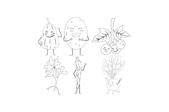 Download Free Vegetable Outline Graphic Illustration Graphic By SVG Cut Files