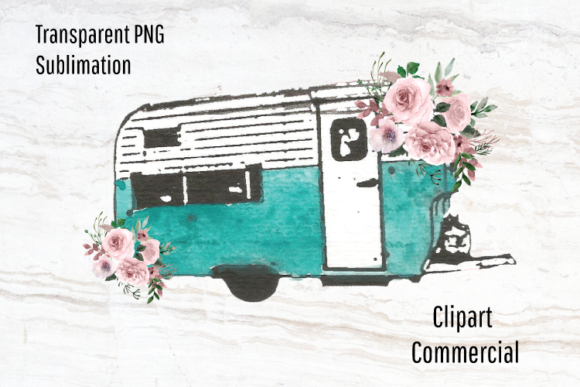 Download Free Vintage Camper Trailer Sublimation Png Graphic By Blueberry Jam for Cricut Explore, Silhouette and other cutting machines.
