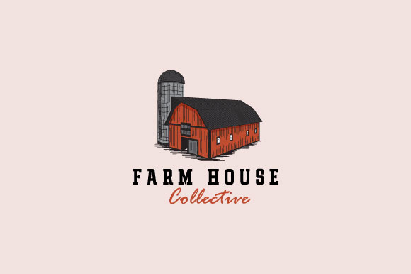 Download Free Vintage Farm House Logo Design Graphic By Burhan Bn006 for Cricut Explore, Silhouette and other cutting machines.