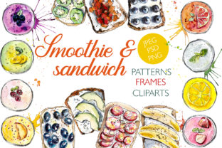 Watercolor Healthy Snack Graphic Illustrations By Мария Кутузова