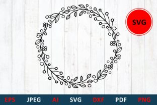 Print on Demand: Wedding Round Frame Template Graphic Illustrations By millerzoa