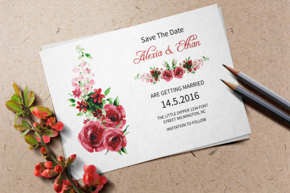 Download Free Wedding Save The Date Template Graphic By Sistecbd Creative for Cricut Explore, Silhouette and other cutting machines.