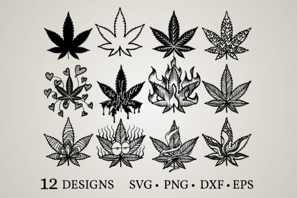 Weed Bundle  Graphic Print Templates By Euphoria Design