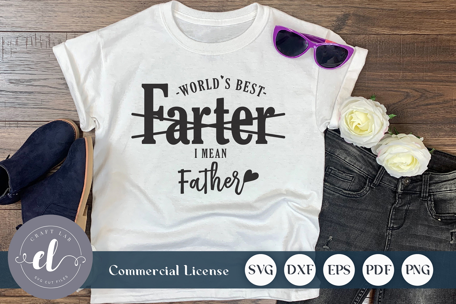 Download Free World S Best Farter I Mean Father Graphic By Craftlabsvg for Cricut Explore, Silhouette and other cutting machines.