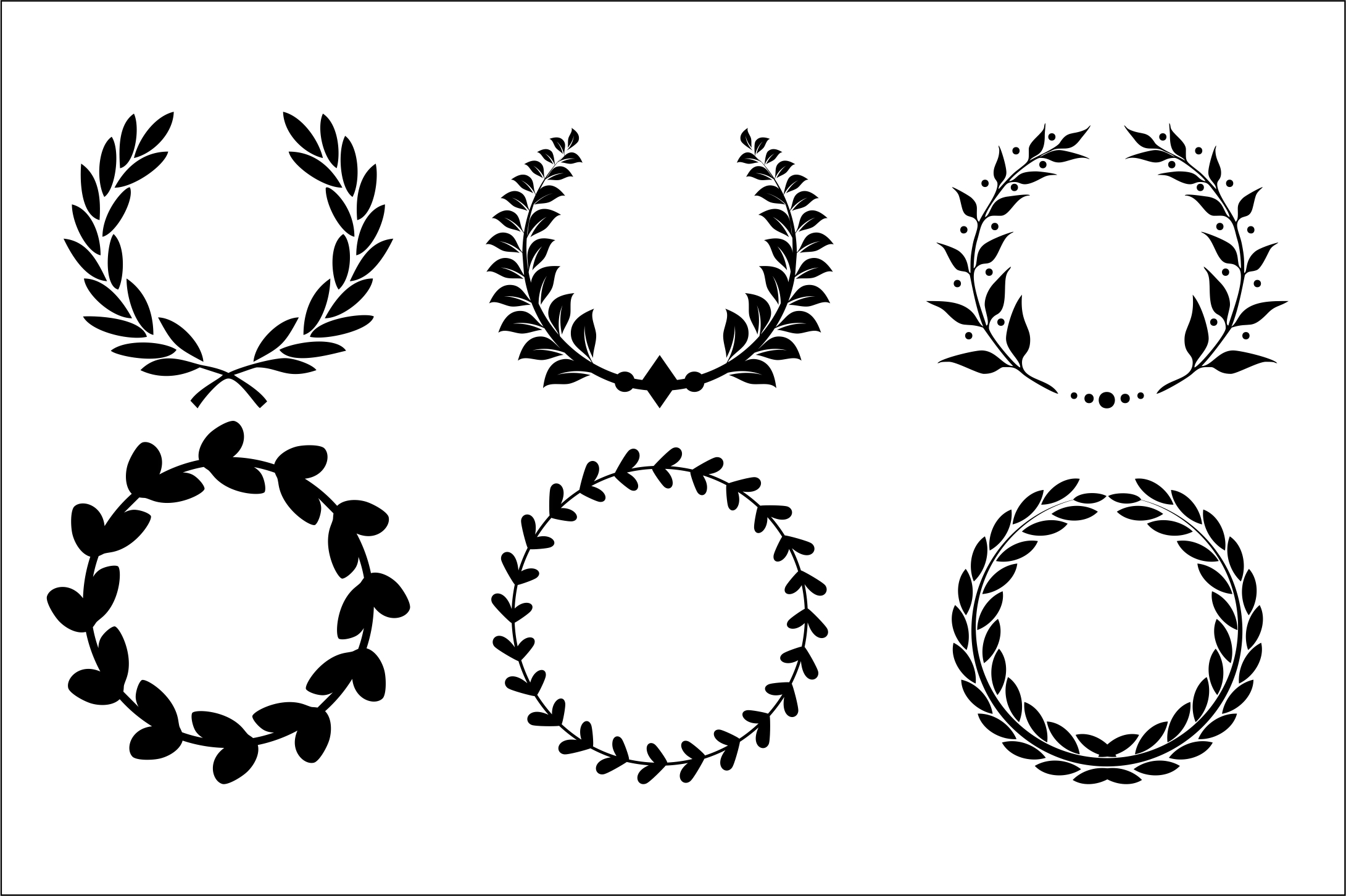 Download Free Wreaths Cut Files Graphic By Bn3300877 Creative Fabrica for Cricut Explore, Silhouette and other cutting machines.