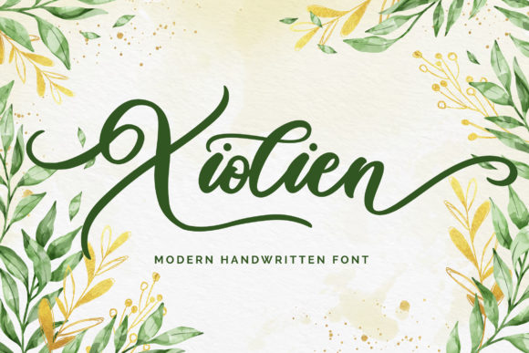 Print on Demand: Xiolien Script & Handwritten Font By Fallengraphic