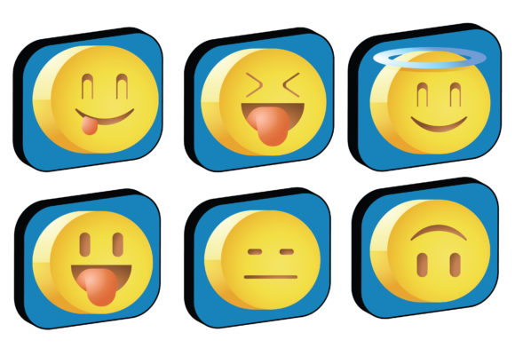 Download Free Emojis Icon Pack Graphic By Ssiimpti73 Creative Fabrica for Cricut Explore, Silhouette and other cutting machines.