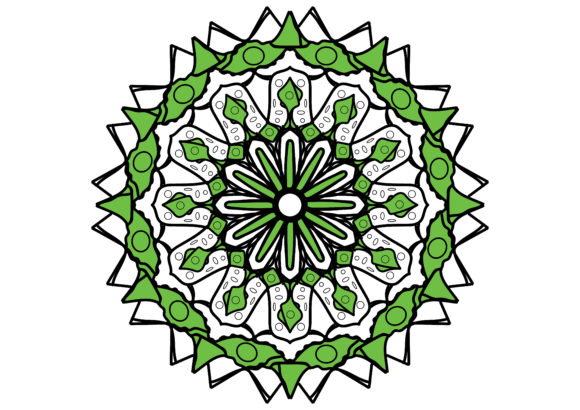 Download Free Mandala Green Graphic By Ssiimpti73 Creative Fabrica for Cricut Explore, Silhouette and other cutting machines.