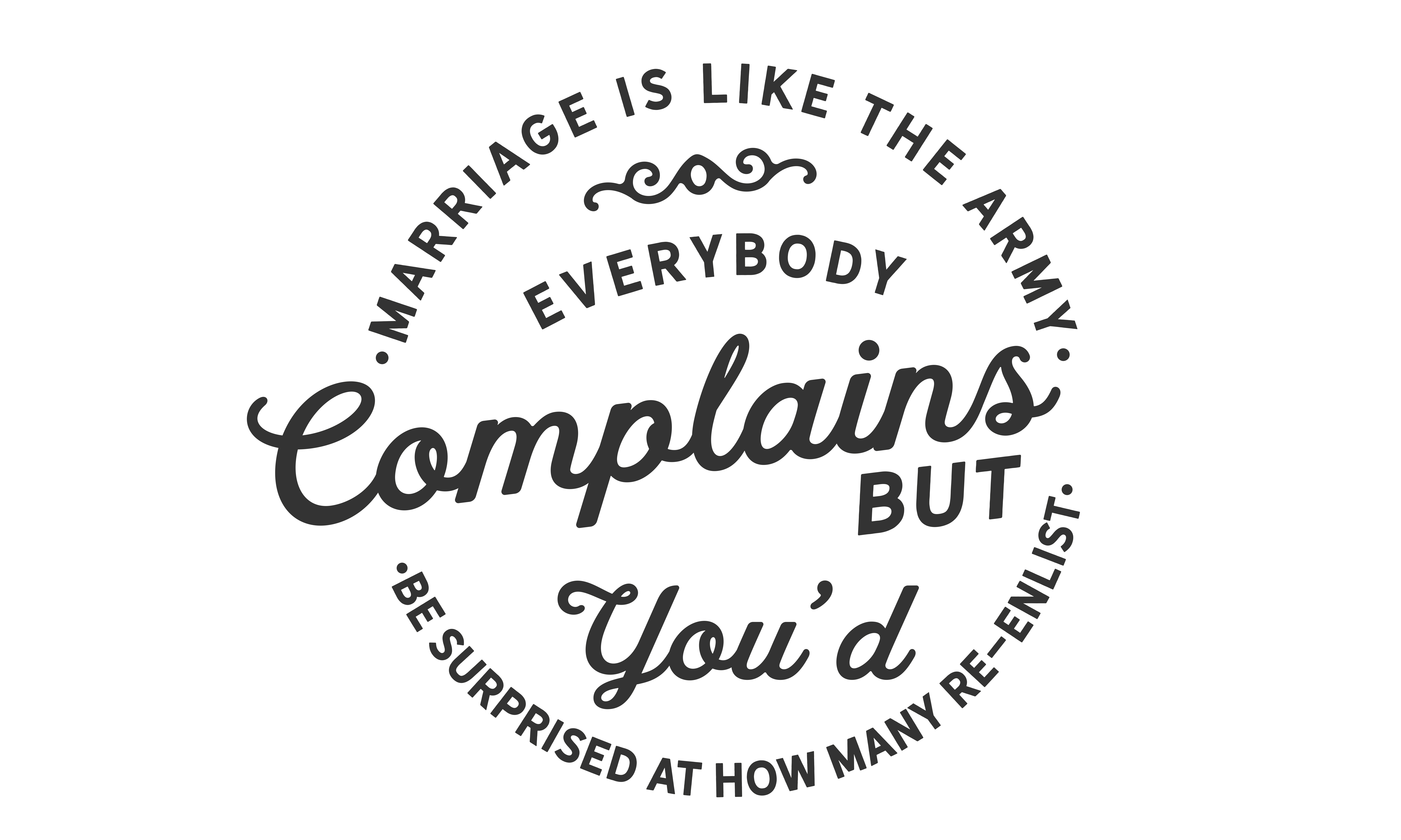 Download Free Marriage Is Like The Army Graphic By Baraeiji Creative Fabrica for Cricut Explore, Silhouette and other cutting machines.