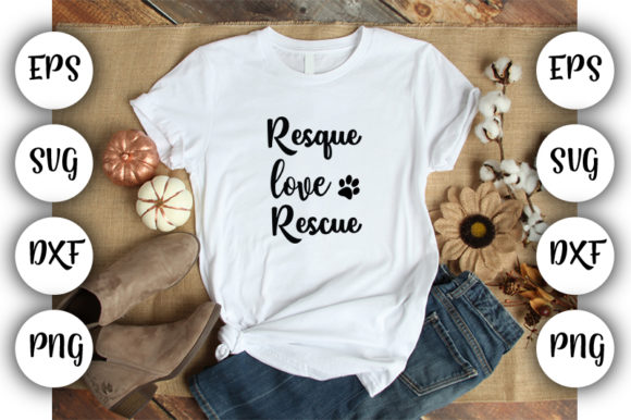 Print on Demand: Resque Love Rescue Graphic Print Templates By Design_store