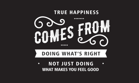 Download Free True Happiness Comes From Doing Graphic By Baraeiji Creative for Cricut Explore, Silhouette and other cutting machines.