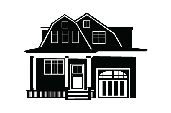 Download Free Dutch Colonial House Svg Cut File By Creative Fabrica Crafts for Cricut Explore, Silhouette and other cutting machines.